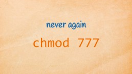 never again chmod 777